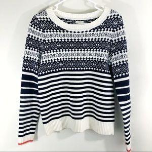 J. Crew Fair Isle Sweater With Stripes Small